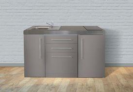 cuisinette pour studio en inox avec frigo et lave vaisselle