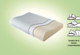 Oreiller à Mémoire de Forme Ergonomique 50x70cm