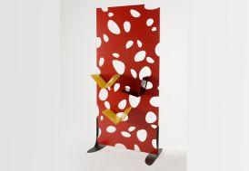 Claustra Galéjade Laquée Rouge 190x90cm