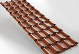 Plaque PVC Imitation Tuile Antique 2,18x0,74m ep. 2,3mm à Partir de 5