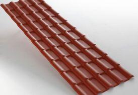 Plaque PVC Imitation Tuile 2,18x0,74m ep. 2,3mm (2 Coloris) à Partir de 5