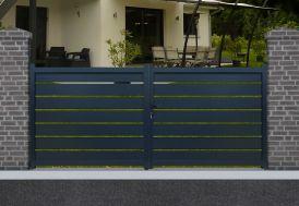 portail en aluminium battant avec ouverture manuelle dimensions au choix