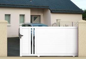 Portail Coulissant PVC Blanc 3,5m Hypérion