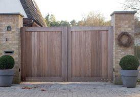 Portail Double Battant en Iroko Oxford – 300 x 180 cm