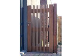 Portail Simple Battant en Iroko Prado – 100 x 180 cm