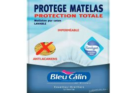 Protège Matelas 100% Coton + PVC Imperméable 90x190 - 140x190 - 160x200cm