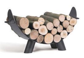 range-bûches pour stocker le bois à côté de la cheminée