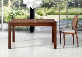 Salle à Manger avec Table Extensible 140/200x90 + 4 Chaises en Hêtre