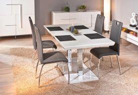Salle a Manger : Table Extensible Edmonton 160/200x90 cm + 4 Chaises