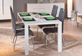 Salle a Manger : Table Extensible Ottawa 160/220x90 cm + 4 Chaises