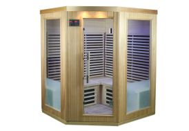 Sauna infrarouge en bois massif Snö 4 places 9 panneaux carbone