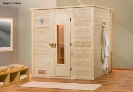 Sauna Bergen 3 Bois Massif 45 mm + Poêle 230 V