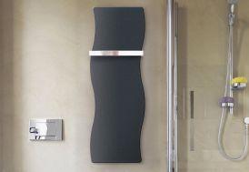 seche serviette electrique noir en acier moderne