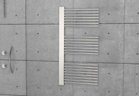 radiateur chromé acier 120 cm 60 cm thermostat