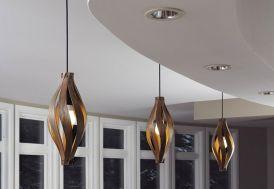 Lampe Suspension Design en Bois Cocoon 16x45cm
