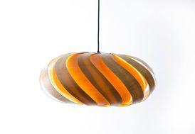 Lampe Suspension Design en Bois Éclipse 66x29cm