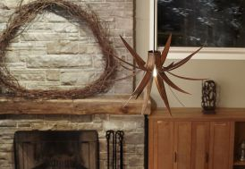 Lampe Suspension Design en Bois Iris 75x45cm