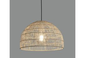 Suspension luminaire en rotin tressé lustre ACB Evens Ø 40,5 cm