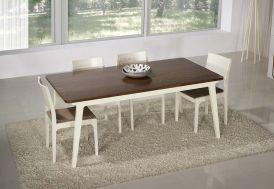 Table à Manger en Noyer et MDF Laqué 180x100x75cm (l,l,h)