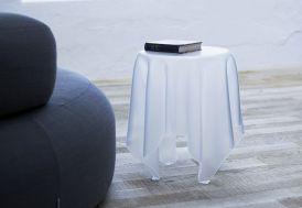 Table d'Appoint en Acrylique Illusion Finition Ice