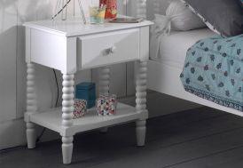 Table de nuit en bois pour enfant blanche 40 x 50 cm