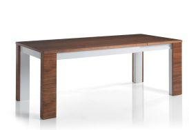 Table Extensible 140/200x90 en Noyer Massif et MDF Nadia