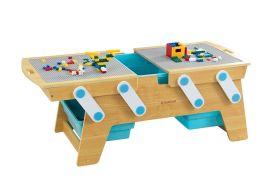 table de jeux de construction en bois pour lego ou duplo 200 briques