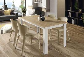 Table à Manger Extensible en Bois Aura 140 x 90 cm