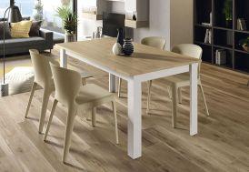 Table à Manger Extensible en Bois Aura 160 x 90 cm