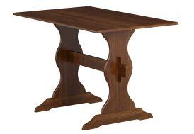 table de salle à manger en bois massif teinté chocolat 110 x 70 cm