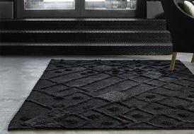 Tapis en Laine Afghane Bur-Bur Noir 170 x 240 cm