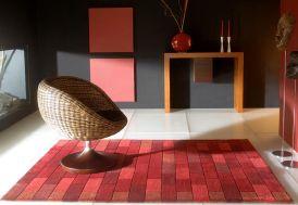Tapis en Laine Rouge Bricks (140x200 - 170x240 - 200x300cm)