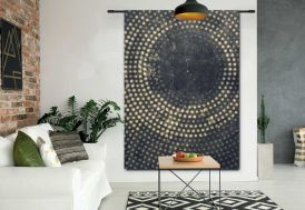 Tenture Murale Design en Coton Bio 140x185cm Cala