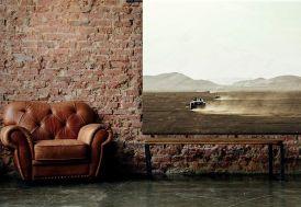 Tenture Murale Design en Coton Bio 190x145cm Desert Drive
