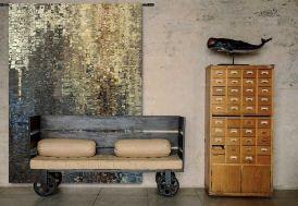 Tenture Murale Design en Coton Bio 140x185cm Drops
