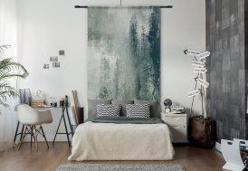 Tenture Murale Design en Coton Bio 140x185cm Grunge