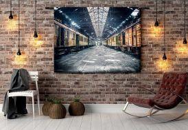 Tenture Murale Design en Coton Bio 185x145cm Depot