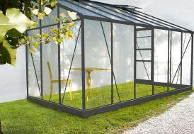 Véranda en Verre et Aluminium Gris Solarium 7,22m²