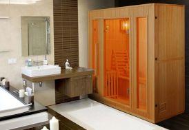 Zen sauna d'intérieur à vapeur pour 3 personnes