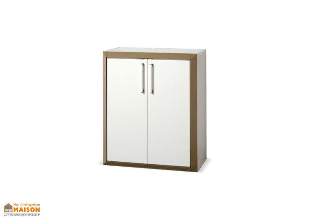 armoire de rangement r sine basse 2 portes modulable prestige garofalo. Black Bedroom Furniture Sets. Home Design Ideas