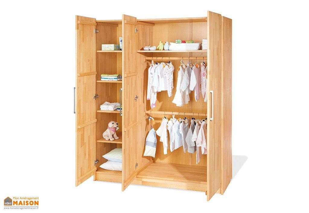 chambre d 39 enfant en h tre natura 1 lit 1 commode et 1. Black Bedroom Furniture Sets. Home Design Ideas