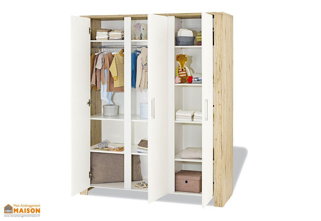 armoire pour enfant 3 portes candeo pinolino. Black Bedroom Furniture Sets. Home Design Ideas