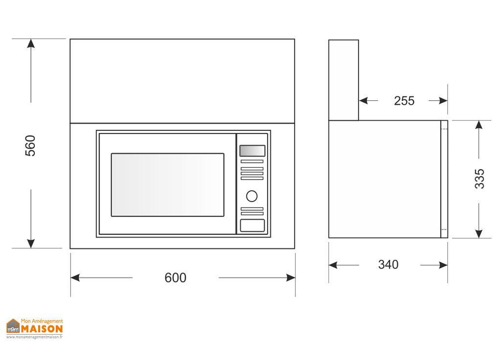 Armoire en Inox avec Micro-Ondes LG (60x34x56cm)