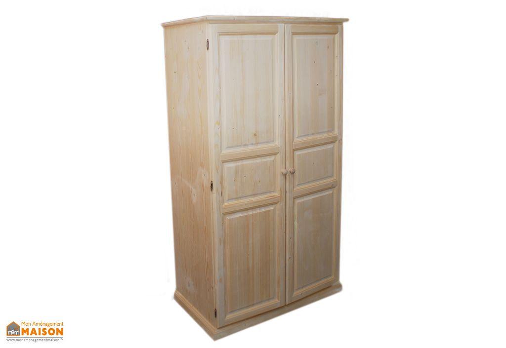 armoire epic a brut 2 portes 100x56x180cm barcler. Black Bedroom Furniture Sets. Home Design Ideas