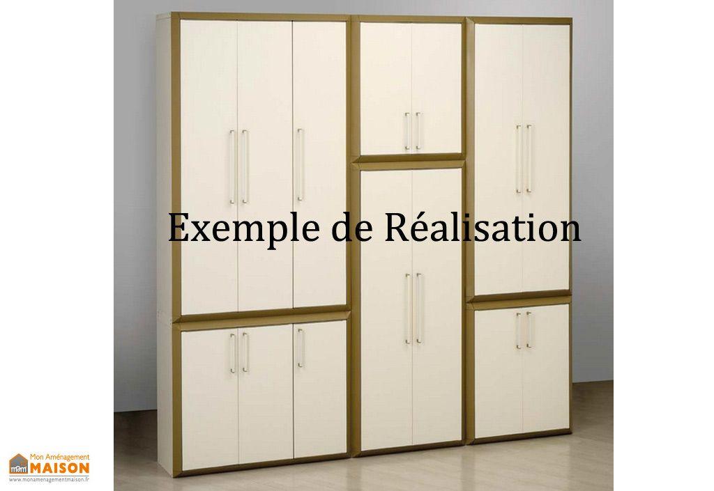 armoire de rangement r sine haute 3 portes modulable prestige garofalo. Black Bedroom Furniture Sets. Home Design Ideas