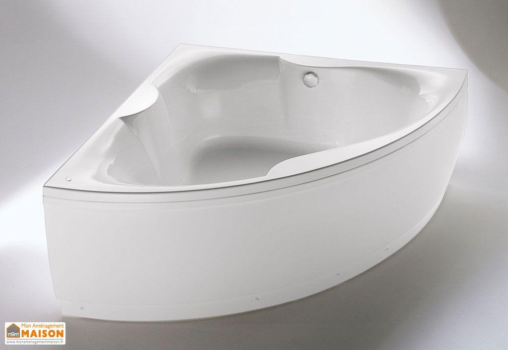 Baignoire d 39 angle acrylique 150x150 largo kolpa for Baignoire acrylique