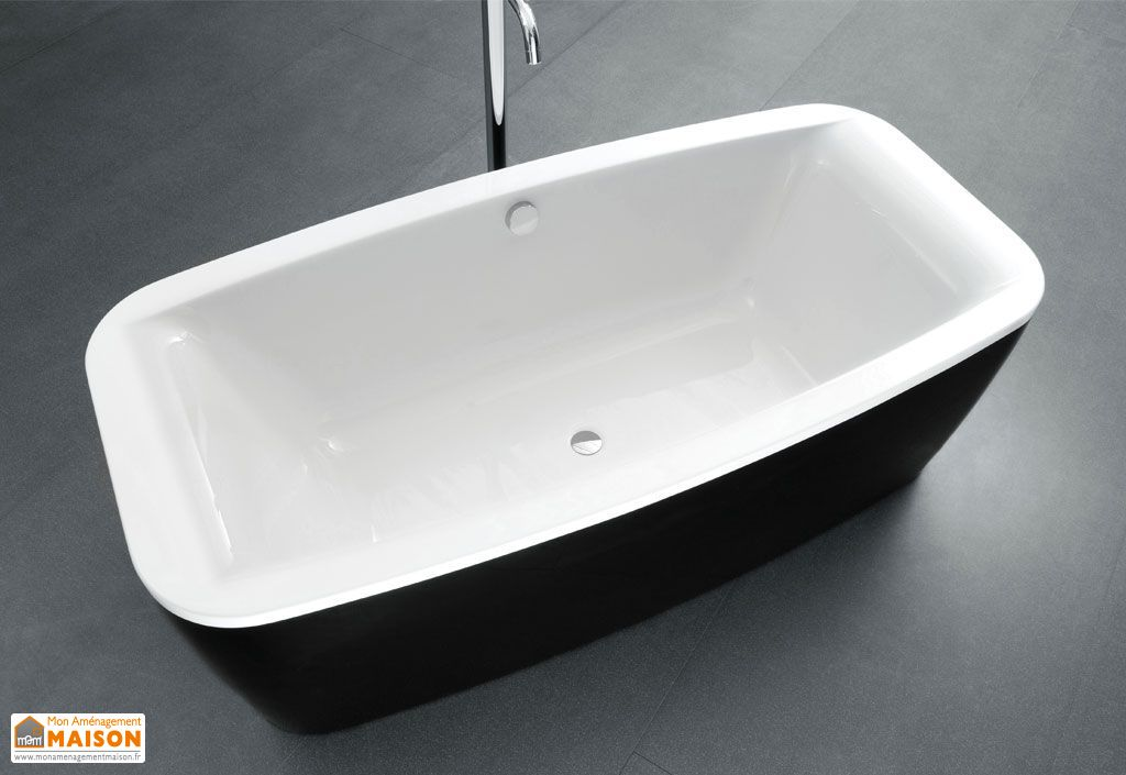 Baignoire Autonome Acrylique Othello Black and White (185x90cm)