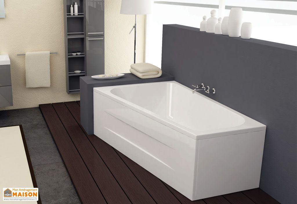 Baignoire acrylique beatrice baignoire acrylique for Grande baignoire encastrable