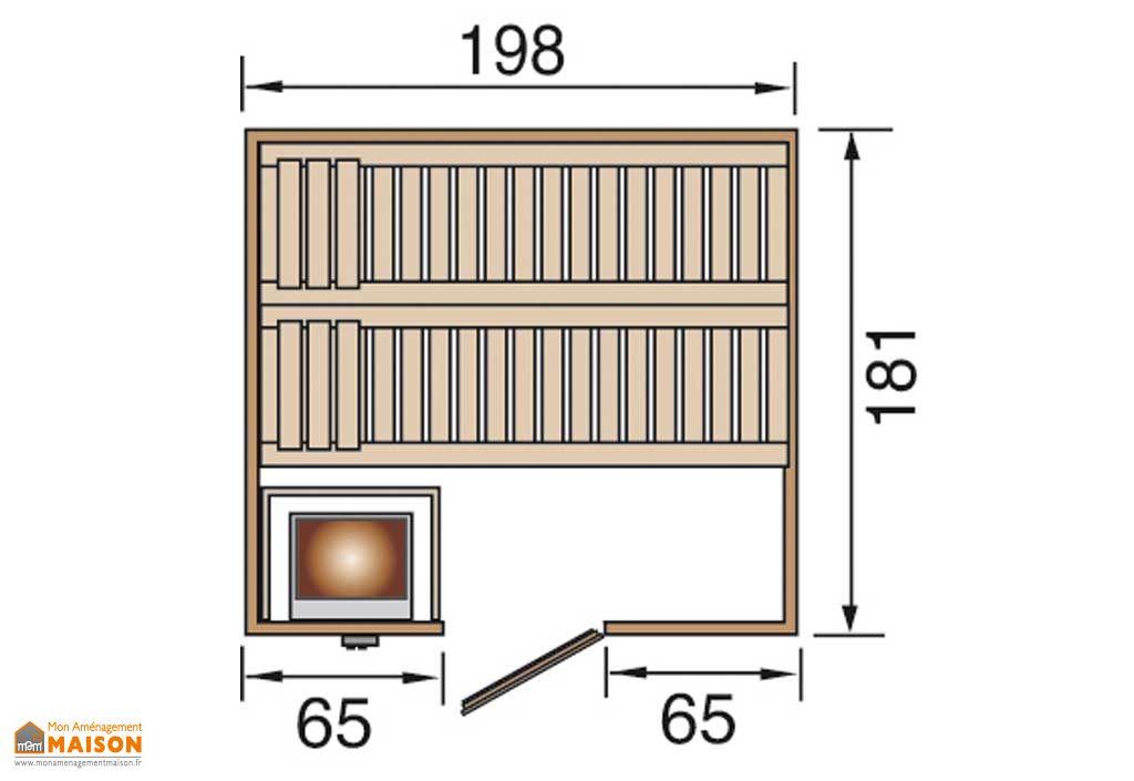 Sauna Bergen 2 Bois Massif 45 mm + Poêle 230 V