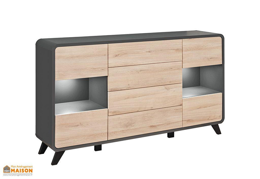 Buffet 4 tiroirs en bois ASM Round